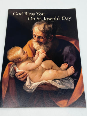 God Bless You on St. Joseph's Day Greeting Card - Unique Catholic Gifts