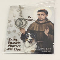 Saint Francis/Guardian Angel - 3/4 Inch Pet Medal - Unique Catholic Gifts