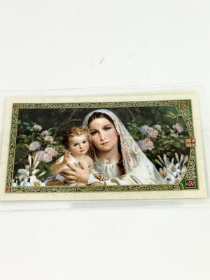 Purity Laminated Holy Card (Plastic Covered) - Unique Catholic Gifts