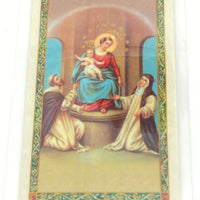 Mysteries of the Holy Rosary Laminated Holy Card (Plastic Covered) - Unique Catholic Gifts