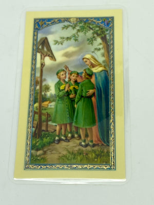 Girl Scout's Oath Laminated Holy Card (Plastic Covered) - Unique Catholic Gifts