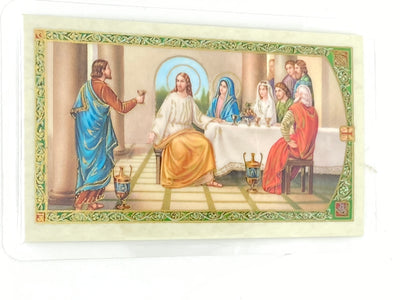 Anniversary Laminated Holy Card (Plastic Covered) - Unique Catholic Gifts