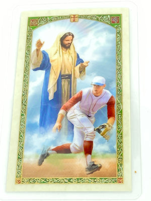 Baseball Player's Prayer Laminated Holy Card (Plastic Covered) - Unique Catholic Gifts