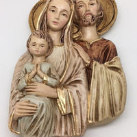 "Holy Family wall Plaque (9 x 5"")"