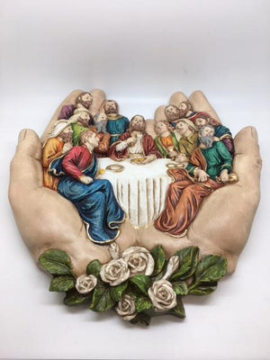 The Last Supper in God's Hands Wall Plaque (13 1/2  x 12