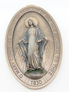 "Miraculous Medal Wall Plaque  8 5/8"" - Unique Catholic Gifts"