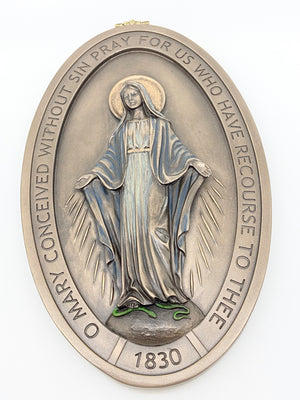 Miraculous Medal Wall Plaque  8 5/8