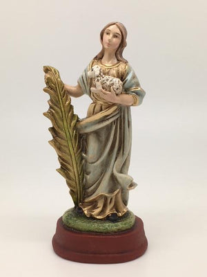 St Agnes Hand Painted Statue (5 1/2