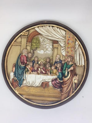 Last Supper Circular Wall Plaque (10