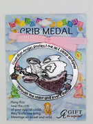 Guardian Angel Crib Medal Pink