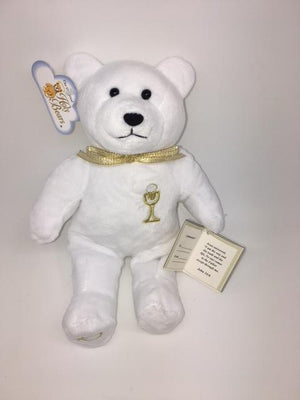 First Communion Bear (Embroidered Chalice) - Unique Catholic Gifts