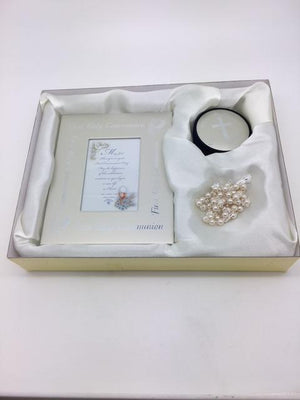First Holy Communion Frame & Rosary Gift Set