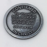 Confirmation Pocket Token Coin (Red Enamel) - Unique Catholic Gifts