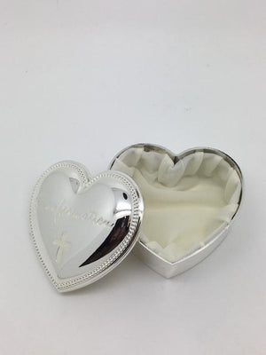 Confirmation Heart Shaped Keepsake Box  2 1/2