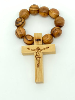 Olive Wood Rosary Bracelet (8MM) - Unique Catholic Gifts