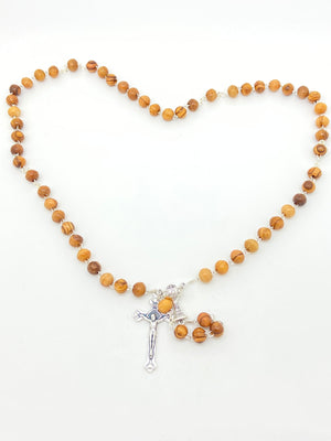 First Communion Rosary from the Holy Land (7 mm) - Unique Catholic Gifts