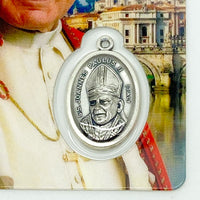Saint Pope John Paul II Holy Card with Medal - Unique Catholic Gifts