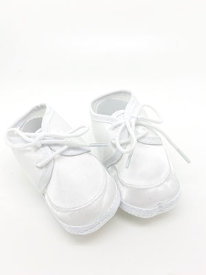 Infant Baptism Shoes (White) - Unique Catholic Gifts