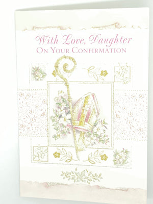 With Love, Daughter on Your Confirmation Day Greeting Card - Unique Catholic Gifts