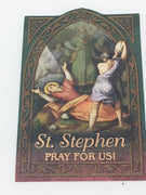 St. Stephen Holy Card (embossed)