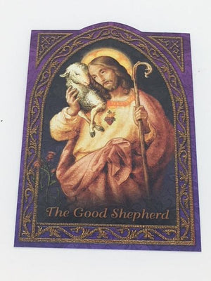 The Good Shepard Holy Card (embossed)