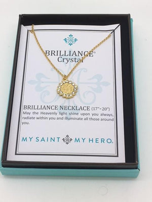 Brilliance Crystal NecklaceGold - Unique Catholic Gifts