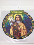 Catholic Stained Glass Sticker Suncatcher St Theresa