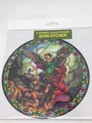 Catholic Stained Glass Sticker Suncatcher St Michael the Archangel
