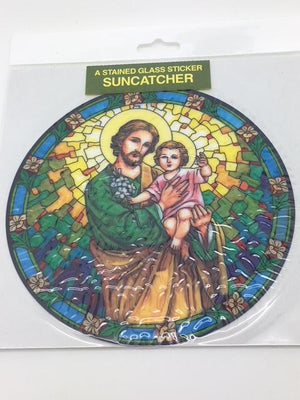 Catholic Stained Glass Sticker Suncatcher St Joseph