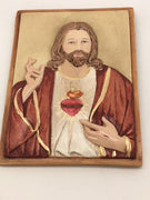 "Sacred Heart of Jesus Plaque (7 1/2"" x 5 1/2"")"