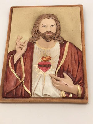 Sacred Heart of Jesus Plaque (7 1/2