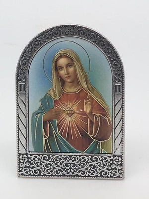 Immaculate Heart of Mary Easel Standing Plaque - Unique Catholic Gifts