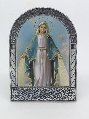 Our Lady of Grace Easel Standing Plaque - Unique Catholic Gifts