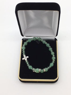 Genuine Green Jade Rosary Bracelet (6mm) - Unique Catholic Gifts