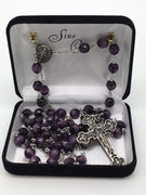Purple Cats Eye Rosary (8mm) - Unique Catholic Gifts