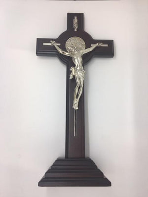 "Standing Saint Benedict Crucifix (15"") - Unique Catholic Gifts"