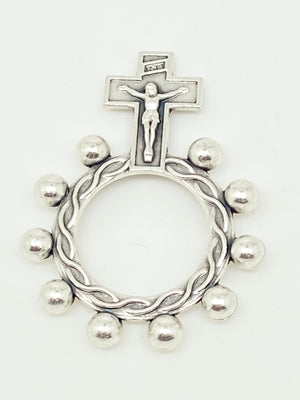 Crucifix Finger Rosary Ring - Unique Catholic Gifts