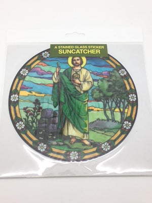 Catholic Stained Glass Sticker Suncatcher St. Jude