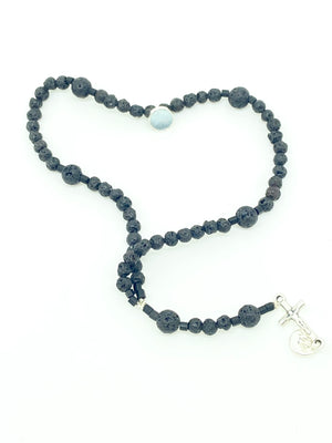 Lava Rock Men's Wrist Rosary - Unique Catholic Gifts