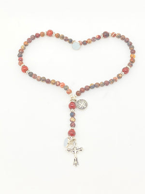 Vista Peacock Jasper Wrist Rosary - Unique Catholic Gifts