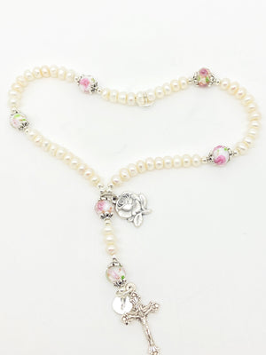Pink Roses  Wrist Rosary - Unique Catholic Gifts
