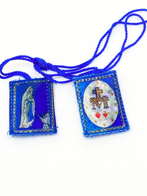 Immaculate Conception and Lourdes Blue Scapular - Unique Catholic Gifts