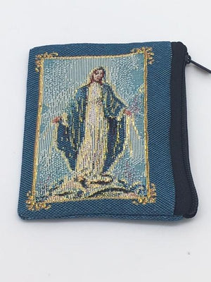 Our Lady of Grace Embroidered Rosary Pouch - Unique Catholic Gifts