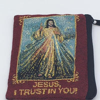 Divine Mercy Embroidered Rosary Pouch - Unique Catholic Gifts