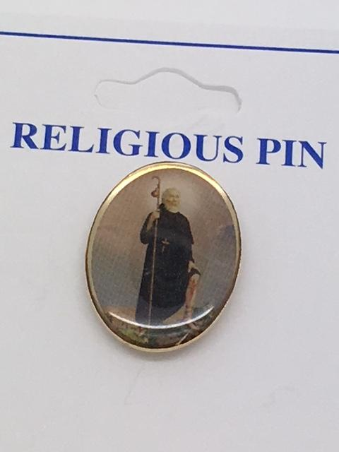 "St. Peregrine Pin 3/4"" - Unique Catholic Gifts"