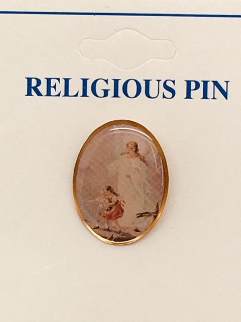 "Guardian Angel Pin 3/4"" - Unique Catholic Gifts"