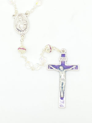 Amethyst Czech Crystal Rosary 5 mm - Unique Catholic Gifts