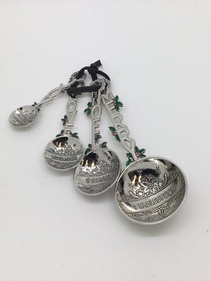 Merry Christmas Measuring Spoons (4 Piece Set) - Unique Catholic Gifts