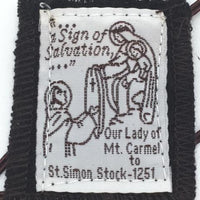 Brown Scapular Wool with Pamphlet. - Unique Catholic Gifts