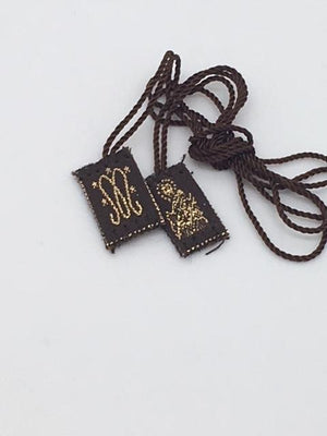 Brown Scapular Cloth (small) - Unique Catholic Gifts